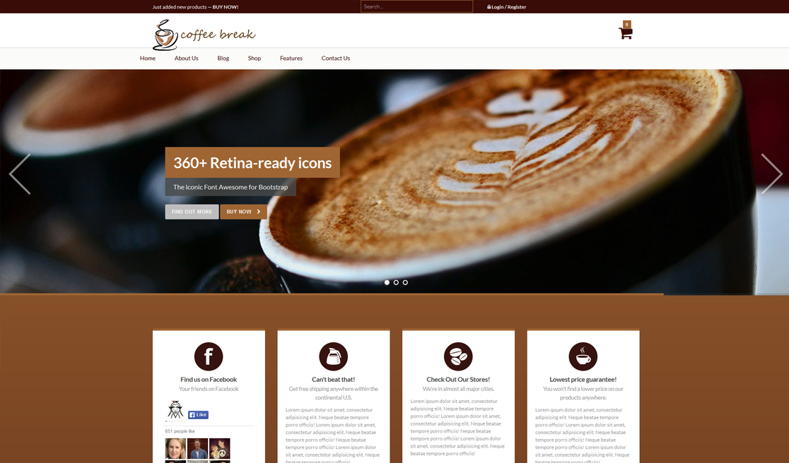 new business catalyst template coffee shop. Black Bedroom Furniture Sets. Home Design Ideas