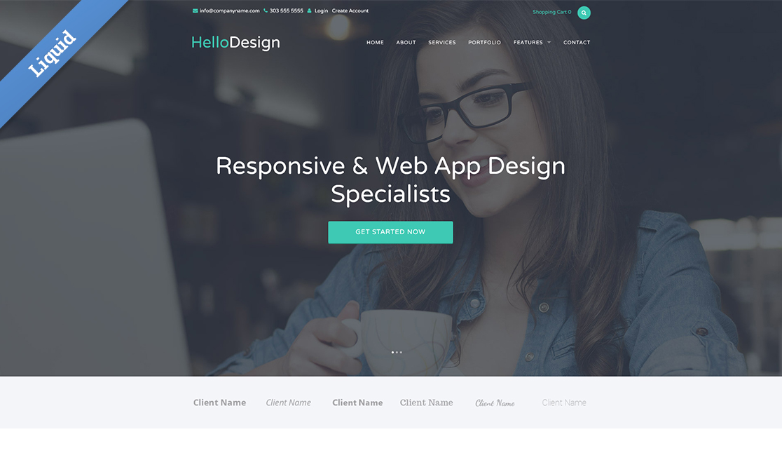 New liquid business catalyst template modern web agency accmission Image collections