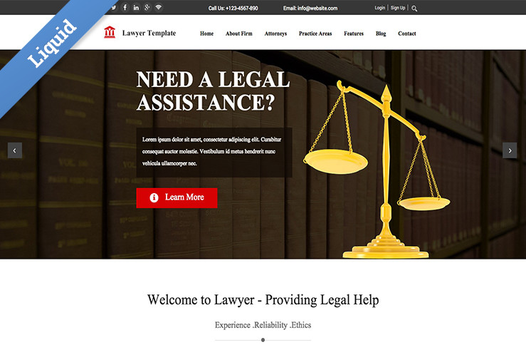 Law Firm 2015 Business Catalyst Template