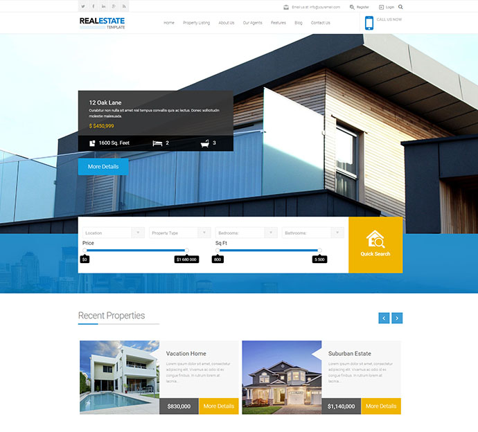 Real Estate Agency Business Catalyst Template