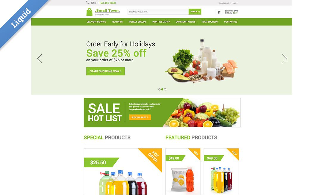 new liquid business catalyst template small town grocery store