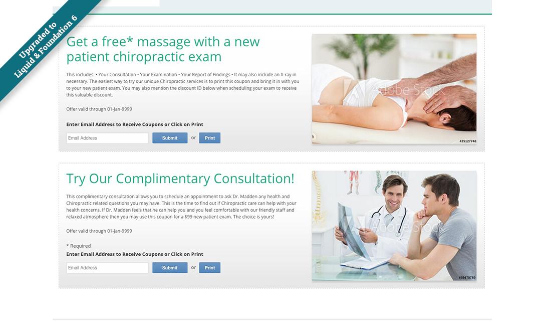Updated Liquid Business Catalyst Template: Chiropractic Care