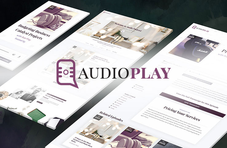 Audio podcast business catalyst template the audio podcast template is not just stunningly designed it is packed full of functionality with well organized code and made to be client ready wajeb Image collections