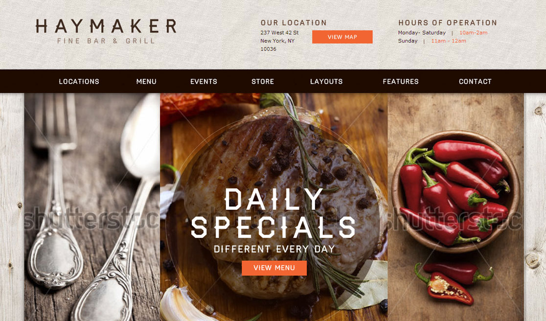 Haymaker restaurant business catalyst template haymaker restaurant wajeb Images