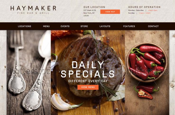 Haymaker restaurant business catalyst template haymaker restaurant wajeb Image collections