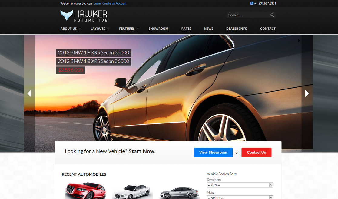 New Business Catalyst Template: Auto Dealer