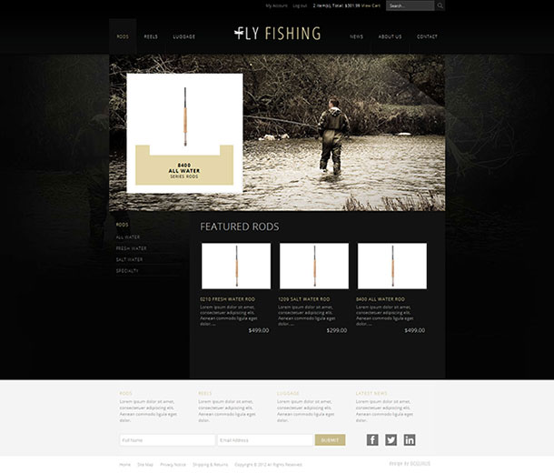 New business catalyst template fly fishing e commerce view the fly fishing e commerce template details page or if you are a pro member request template now wajeb Image collections