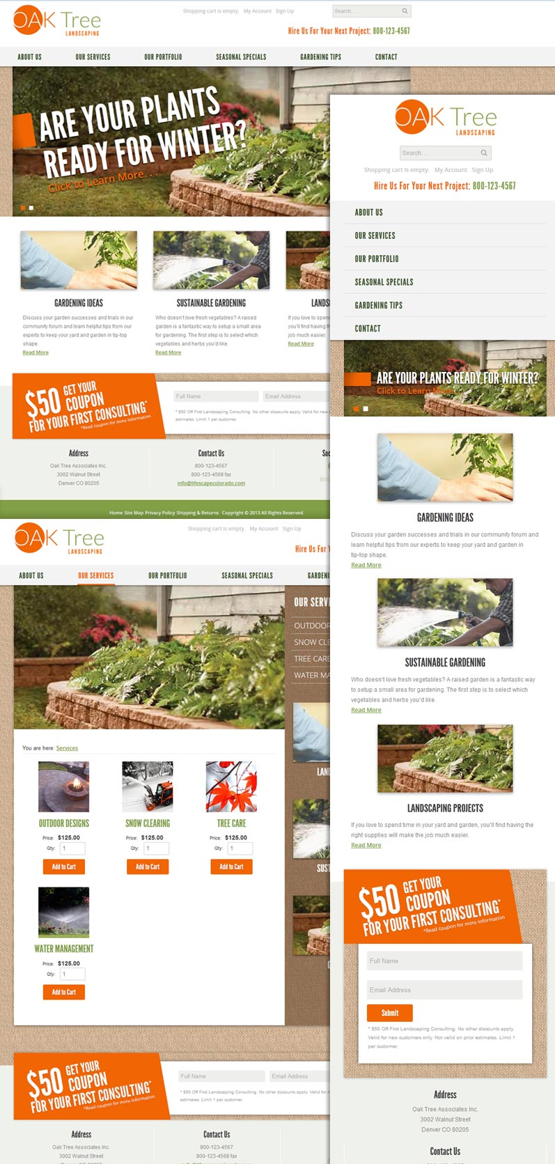 New business catalyst template oak tree landscaping wajeb Image collections