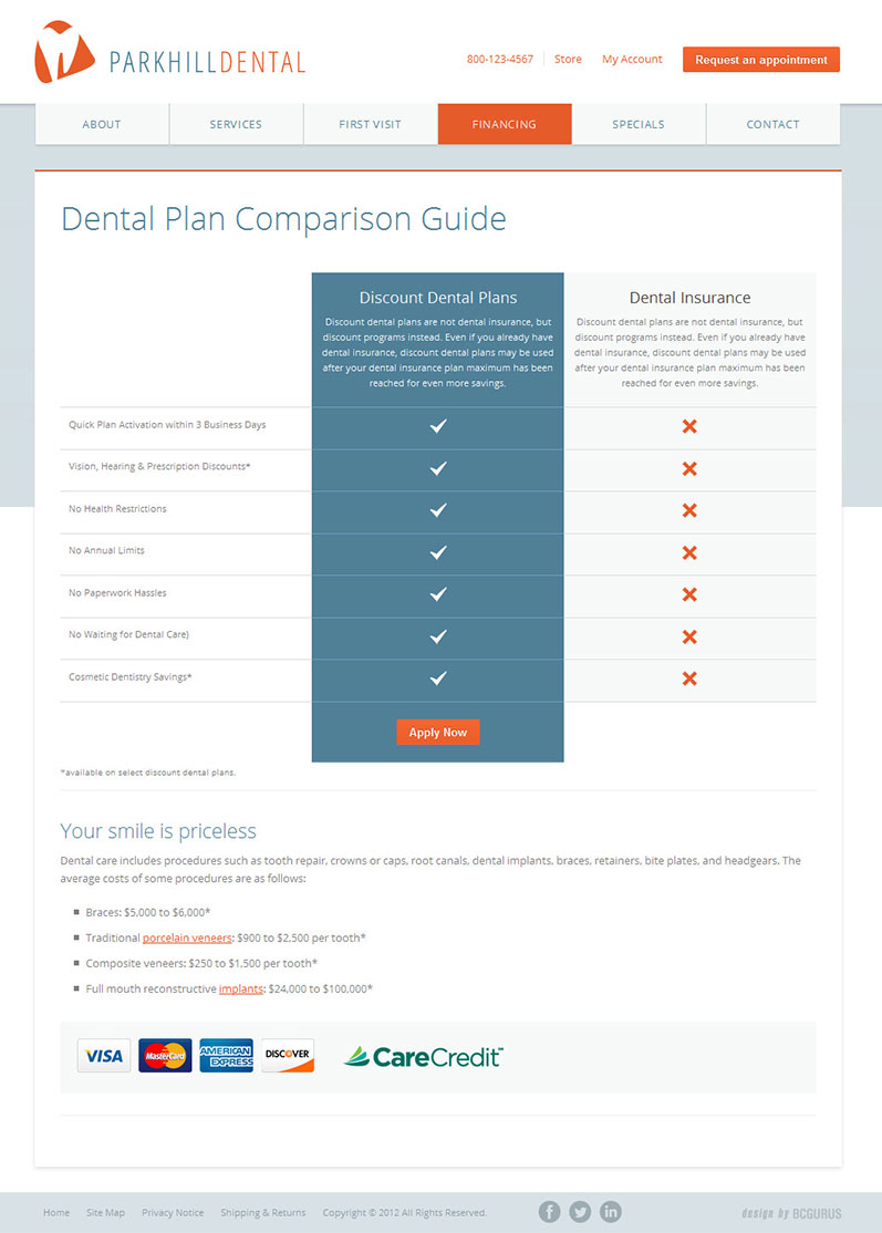 New business catalyst template park hill dental wajeb Image collections