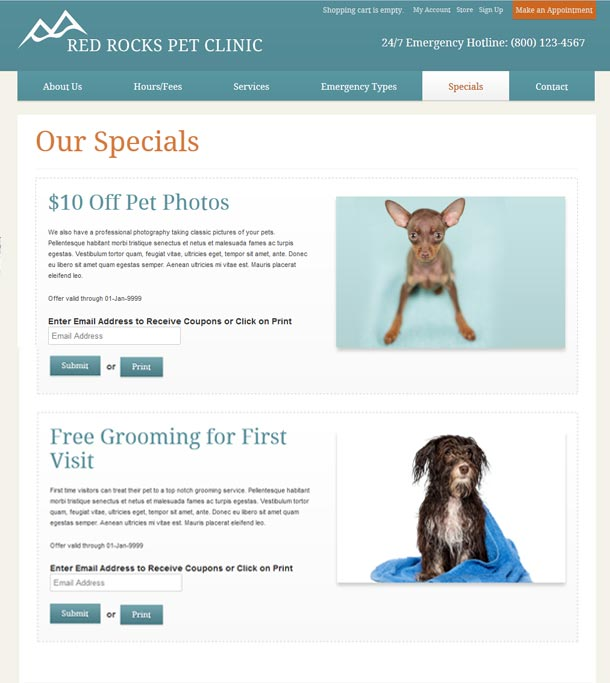 New business catalyst template red rocks pet clinic login or create a new account to add this your favorites wajeb Image collections