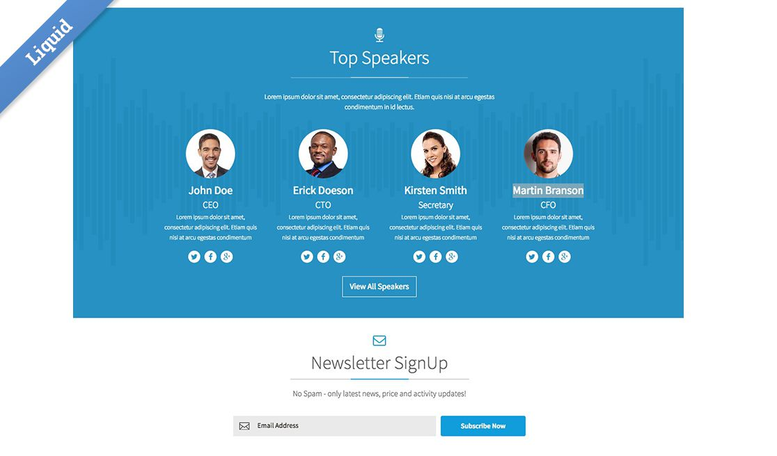 conference 2015 business catalyst template