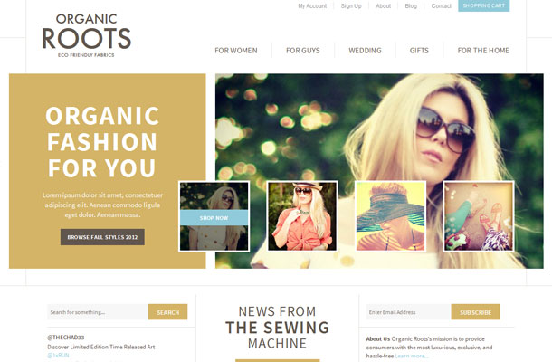 View The Organic Roots E Commerce Store Business Catalyst Template Details Page Or If You Are A PRO Member Request Now