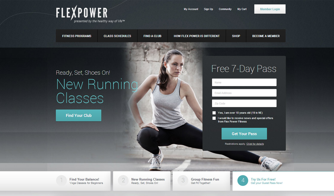 New business catalyst template fitness for Fitness program template free download