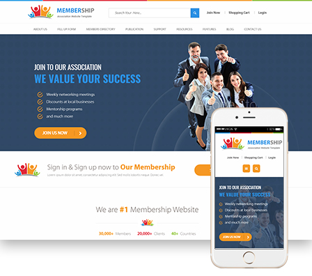 Membership Focused Template Where We Ve Created Easy To Use Directories Member Only Pages And Secure Recurring Payment Gateways